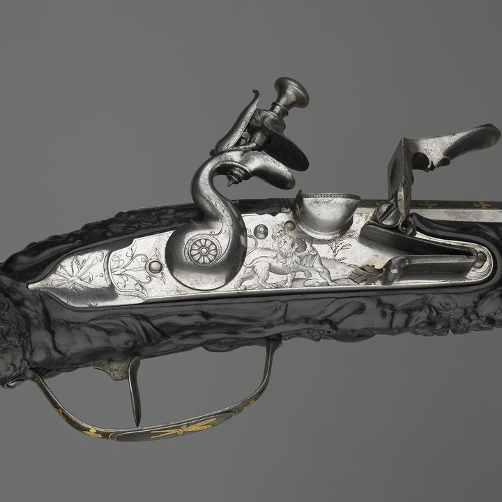 A1210 detail, flint-lock pistol