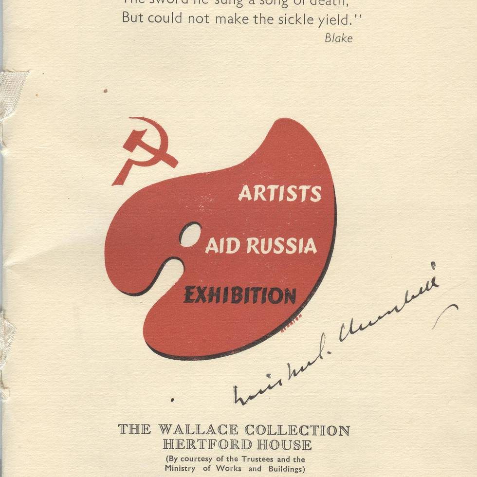 Exhibition catalogue signed by Winston Churchill
